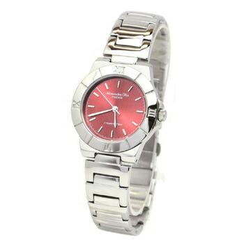 Alessandra Olla アレサンドラオーラ 腕時計 レディースウォッチ シンプルデザイン AO-920-5 レッド P12Sep14