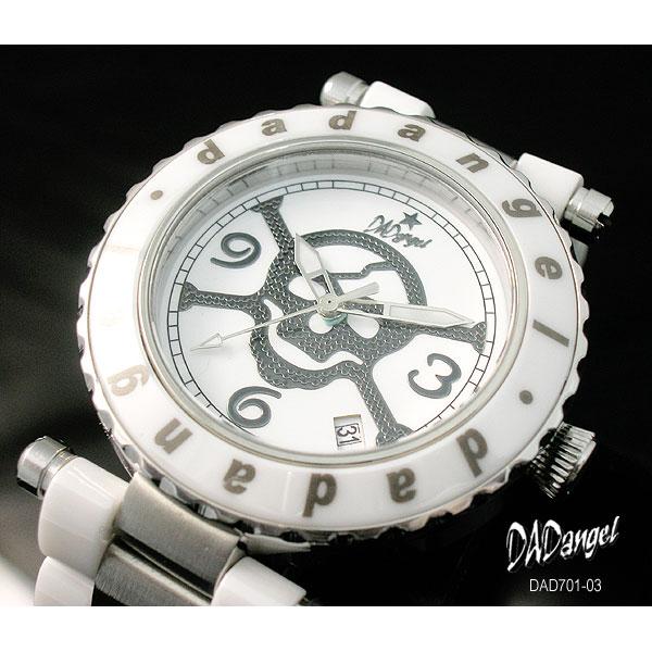 DADangel ダッドエンジェル 腕時計 スカル セラミック メンズウォッチ DAD701-03 ホワイト  P12Sep14