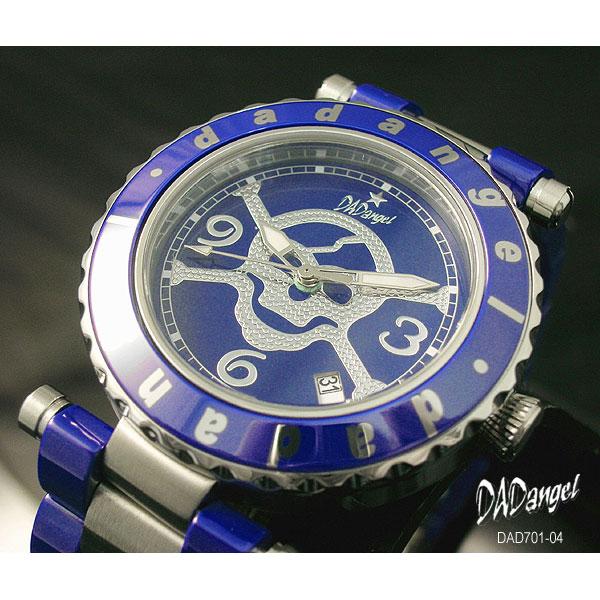 DADangel ダッドエンジェル 腕時計 スカル セラミック メンズウォッチ DAD701-04 ブルー P12Sep14