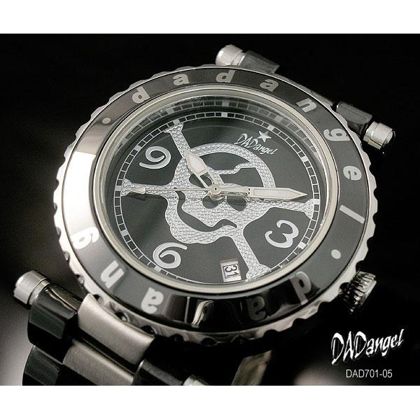 DADangel ダッドエンジェル 腕時計 スカル セラミック メンズウォッチ DAD701-05 ブラック  P12Sep14