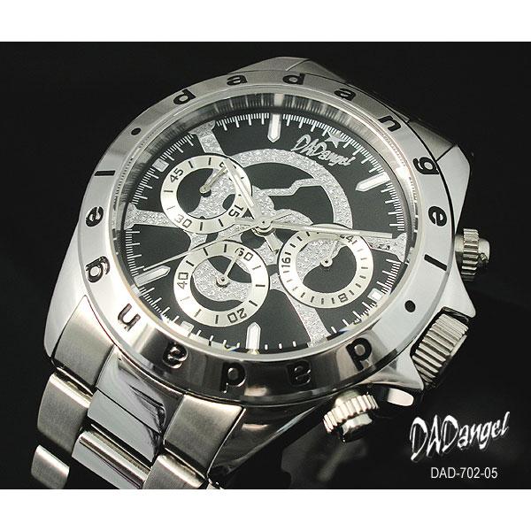 DADangel ダッドエンジェル 腕時計 スカル クロノグラフ メンズウォッチ DAD702-05 ブラック P12Sep14