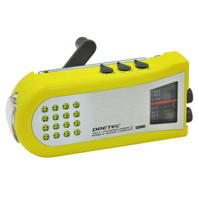 ドリテック PR-318YE ドリテック 手回しケータイ充電ラジオ PR-318YE P12Sep14