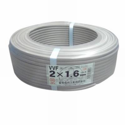 富士電線 富士電線 VVFケーブル 1.6mm×2芯 100m巻 (灰色) VVF1.6×2C×100m P12Sep14