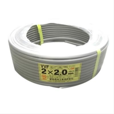 富士電線 富士電線 VVFケーブル 2.0mm×2芯 100m巻 (灰色) VVF2.0×2C×100m P12Sep14