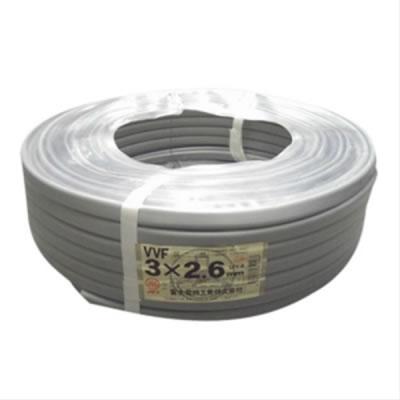 富士電線 富士電線 VVFケーブル 2.6mm×3芯 100m巻 (灰色) VVF2.6×3C×100m P12Sep14
