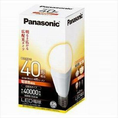 パナソニック LDA7LGK40DW パナソニック EVERLEDS 電球色:広配光タイプ>明るさ 電球40W形相当(580lm)※調光器対応 LDA7LGK40DW P12Sep14