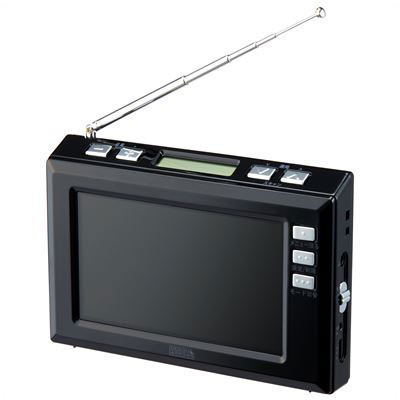 YAZAWA(ヤザワコーポレーション) TV03BK YAZAWA(ヤザワコーポレーション) 4.3インチディスプレイ ワンセグラジオ(ブラック) TV03BK P12Sep14