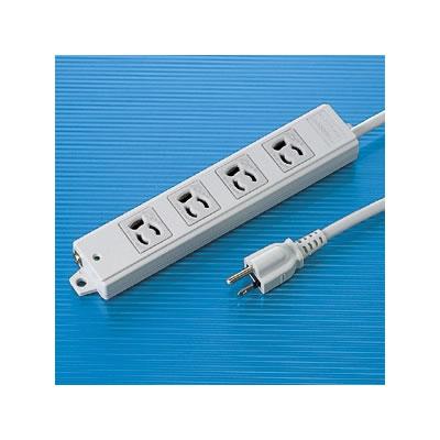サンワサプライ TAP-K4-3 サンワサプライ 工事物件タップ(4個口・3m) TAP-K4-3 P12Sep14