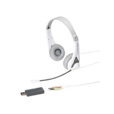 サンワサプライ MM-HSUSB14GY サンワサプライ USB対応ヘッドセット(USBアダプタ付き・グレー) MM-HSUSB14GY P12Sep14