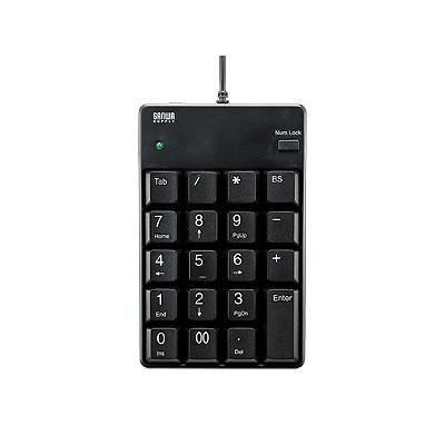 サンワサプライ NT-17UH2BK サンワサプライ USB2.0ハブ付テンキー ブラック NT-17UH2BK P12Sep14