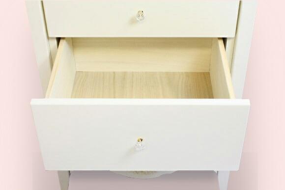 オリジナル白家具シリーズ celesta チェレスタ N  60ハイチェスト 奥行き43.5cm/38.5cm/33cm 【ローズ エレガント カントリー フレンチ ホワイト 送料無料 日本製】