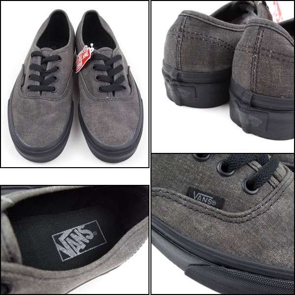 vans authentic grey and black