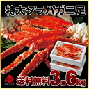 Jumbo King crab legs 4-6 shoulder 3.6kg(1.8kg × am 2 Boyle-box foam case ) broken part and / / King crab and crab / crabs / crab / oversized