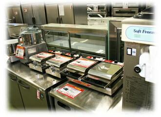 各種厨房機器展示写真