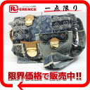 "Louis Vuitton Monogram Denim patchwork ""Bost"" shoulder bag blue M95374 ""response."""
