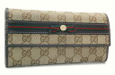 Gucci MAYFAIR (Mayfair) GG zipper long wallet beige / dark brown 256998
