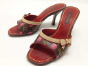 "Louis Vuitton Monogram cherry Mule Sandals 34 ""response.""-fs3gm"