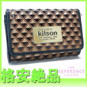 "Kitson 2 fold wallet square plate gold series KSG0247 beauty products ""enabled."""