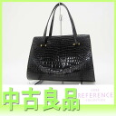 "Hermes Crocodile bag coin purse black ""response.""-fs3gm"