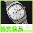 "Omega Seamaster blue hose limited TV screen mens watch automatic SS antique ""response.""-fs3gm"