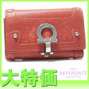 "Ferragamo gancini leather 6-key case orange ""response.""-fs3gm"