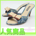 "Louis Vuitton Monogram Denim Sandals 34 blue ""response.""-fs3gm"