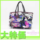 "Dior ANSELM REYLE (Anselm Lyle) collection tote bag Camo camouflage blue ""response."""