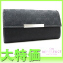 "Gucci METAL BAR (メタルバー) GG strap long wallet black 203576 ""response.""-fs3gm"