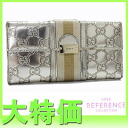"Gucci TREASURE (treasure) guccissima W hook length wallet metallic gold 150674 ""response.""-fs3gm"