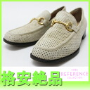 Gucci bit punching suede Lady's shoes 37 beige 》 fs3gm for 《