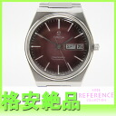 """Omega Seamaster day date mens watch color dial grape gradient self-winding """"response.""""-fs3gm"""