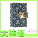 "Louis Vuitton Monogram Denim agenda PM system Handbook cover blue R20010 ""response.""-fs3gm"