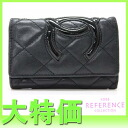 "Chanel Cambon line 6 key holder black x black s correspondence.""fs3gm"