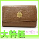 "6-Bvlgari classic leather key case amber (Brown) 20235 ""response.""-fs3gm"