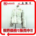 Fox fur Lady's coat white system 》 fs3gm 02P05Apr14M for 《