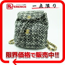 "Chanel Tweed matelasse rucksack black x white s correspondence.""fs3gm"