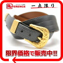 70 HERMES Lady's belt boxcalf gray gold metal fittings old O 刻 》 fs3gm for 《