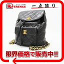 CHANEL lambskin matelasse rucksack black 》 fs3gm for 《