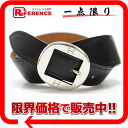 "Hermes サンチュール de H leather belt box 70 Cafe Black Silver bracket F ever-good as new ""response.""-fs3gm"