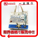 "Coach Pierre Le Tan seahorse tote bag beige * unused blue 14999 ""response.""-fs3gm"