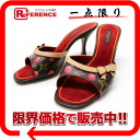 Louis Vuitton monogram cherry mule sandals 35.5 》 fs3gm for 《