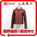 34 CHANEL Lady's jacket blouson Bordeaux 》 fs3gm for 《