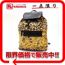 "Gianni Versace Leopard backpack ""response.""-fs3gm02P05Apr14M02P02Aug14"