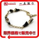 "Ferragamo pumps motif bracelet black x Gold brand new as well ""response.""-fs3gm"