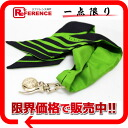 Bando Chemical Industries scarf green X black 》 fs3gm with グッチシルククレスタチャーム for 《