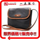 "Bally leather ポシェットショルダー bag black x Brown? s support.""fs3gm"