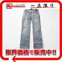 Dolce & ガッバーナドルガバダメージ processing denim jeans Lady's 42 blue X red 《 correspondence 》 fs3gm
