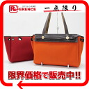 "Hermes airbag Cabas PM Orange x red refill bag H engraved ""response."""