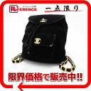 "Chanel velour matelasse backpack black ""response.""-fs3gm"