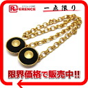 "Chanel with chain coin brooch gold × fs3gm black ""response."""